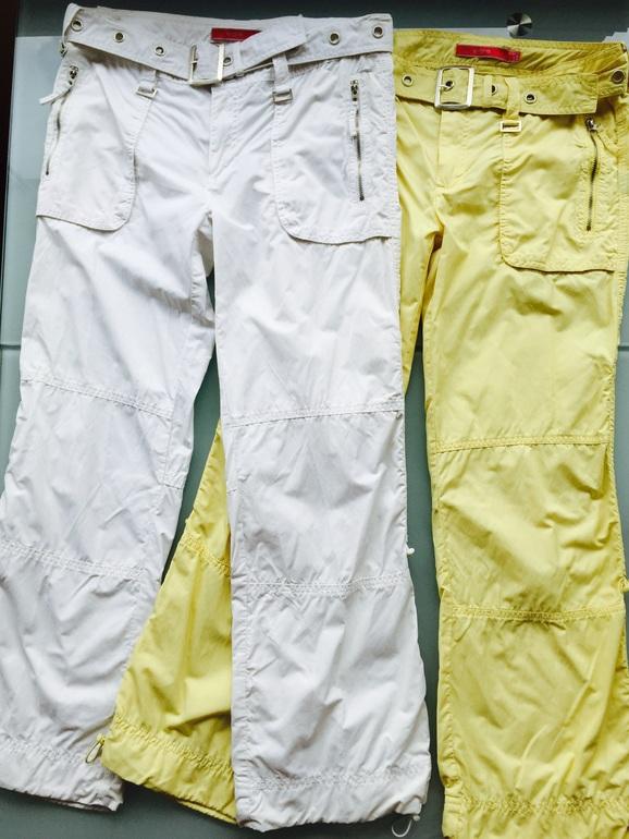 Стильные Капри Evona желтые р.S и белые р. S