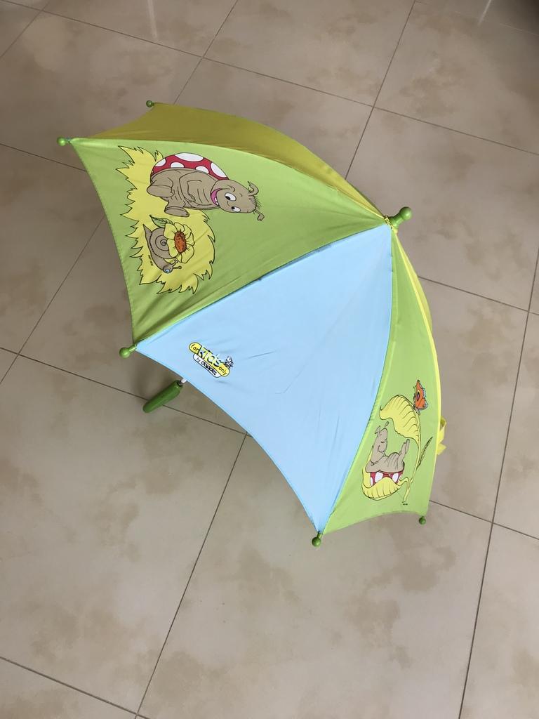 Зонт детский Doppler, автомат, салатовый/голубой