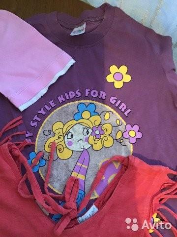 Много футболок на девочку для лета