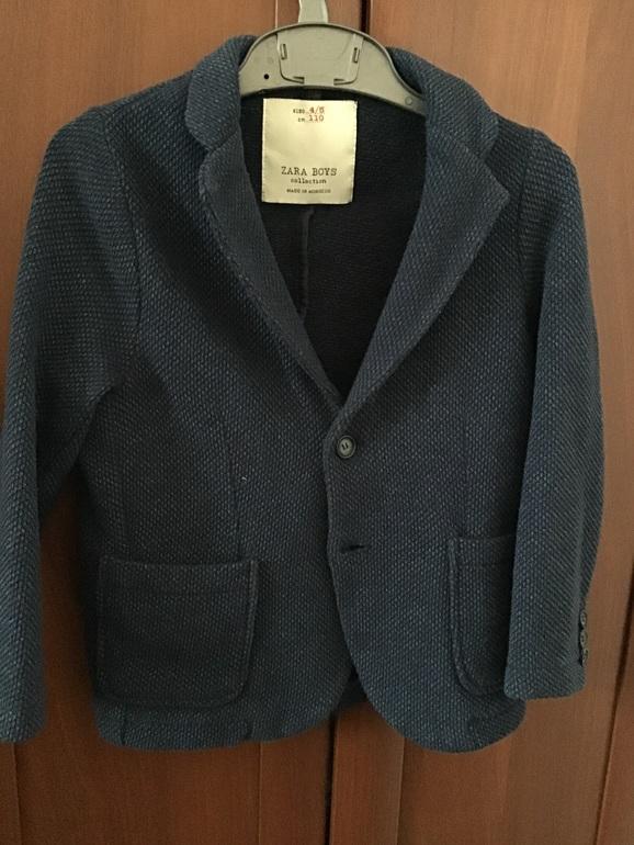 Синий пиджак для мальчика Zara 4-5/110