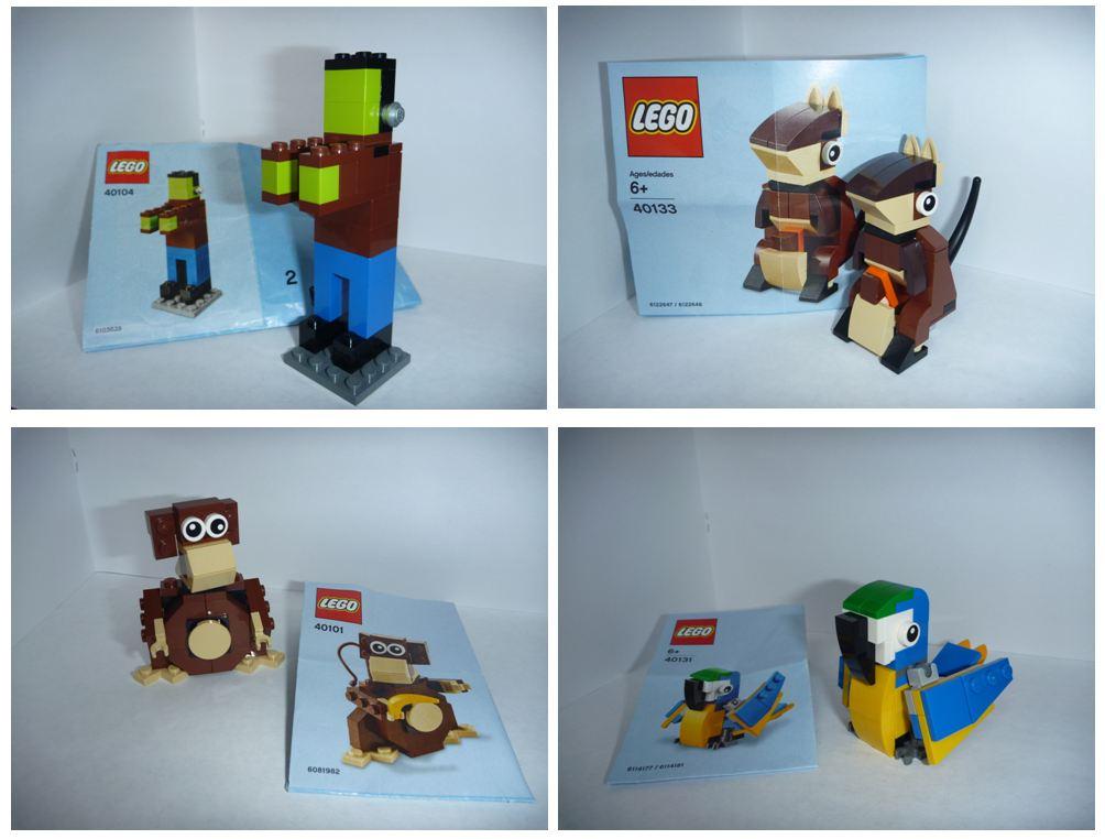 4 мини набора лего lego 40101 40104 40131 40133