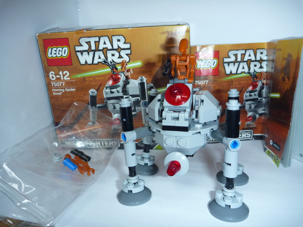 Лего lego star wars homing spider droid 75077