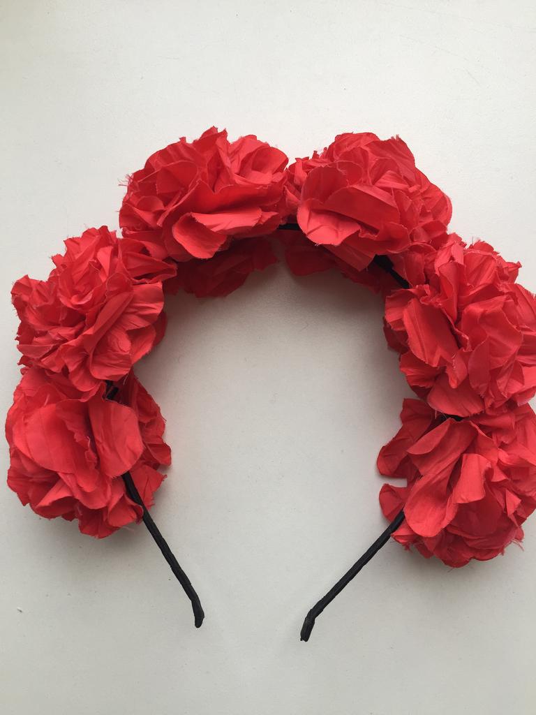 Ободок новый с розами красный в стиле Dolce&Gabbana D&G на волосы голову цветы