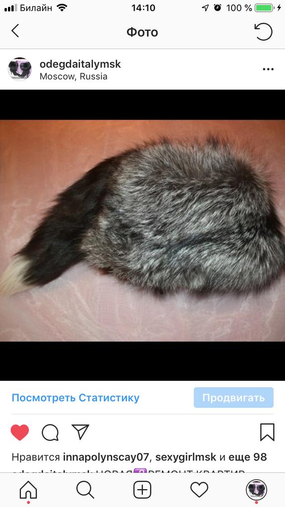 Шапка новая меховая чернобурка лиса мех с хвостом размер средний 44 56 М
