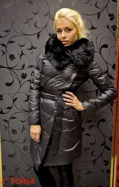 Куртка зимняя, натуральный кролик