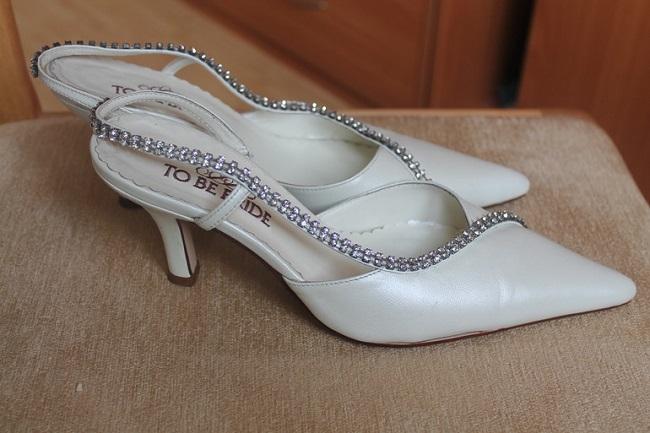 Фирменные свадебные туфли TO BE BRIDE 39р.