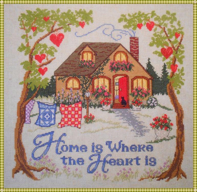 Дом там сердце вышивка