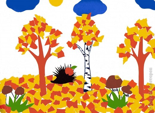 Изо 2 класс аппликация из осенних листьев рисунок