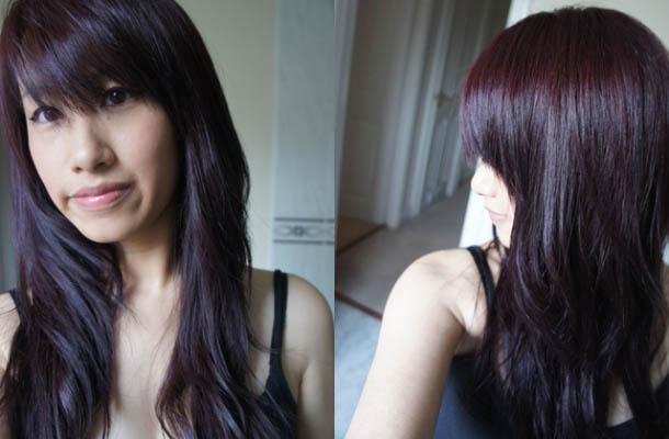 Цвет волос темный баклажан