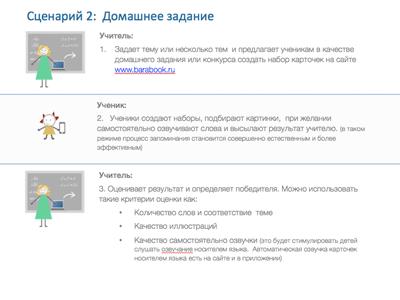 Применение интернет-сервиса Барабук Карточки для совершенствования словарного запаса при изучении иностранного языка.