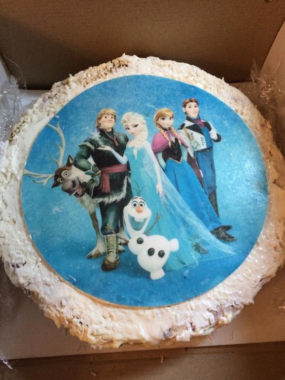 картинка на вафельной бумаге на торт когда класть