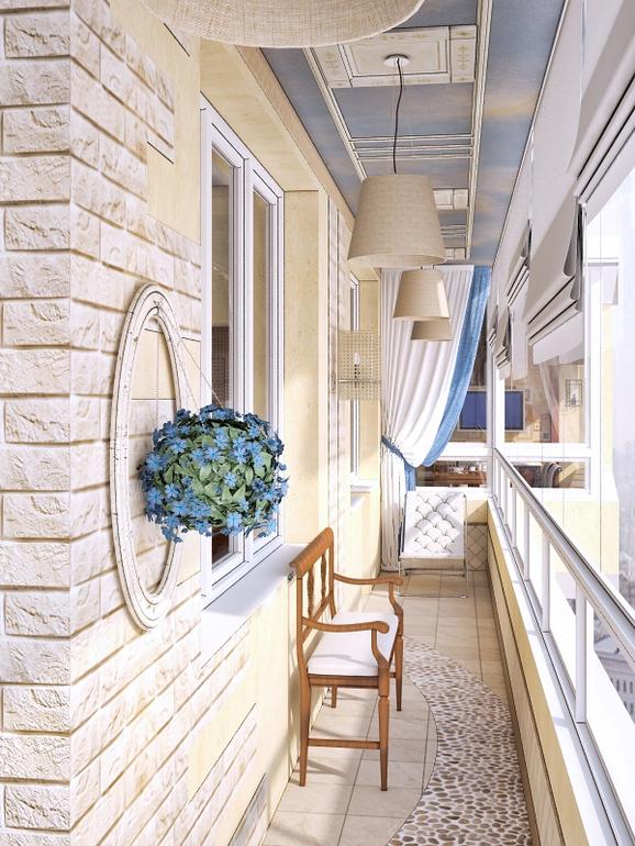 Балкон с воспоминаниями о море - обустройство балкона и лодж.