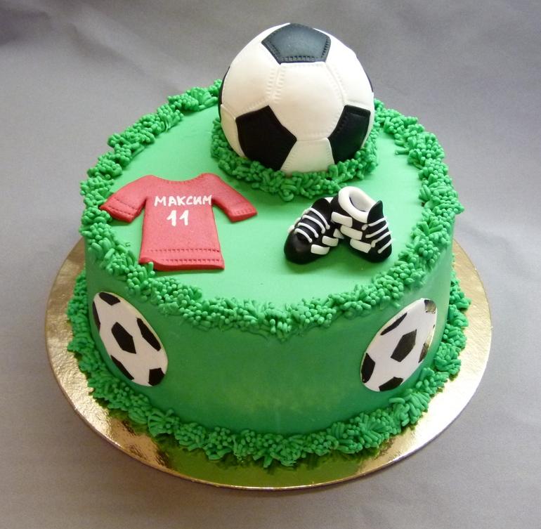 Торт с футболом картинки, день рождения другу