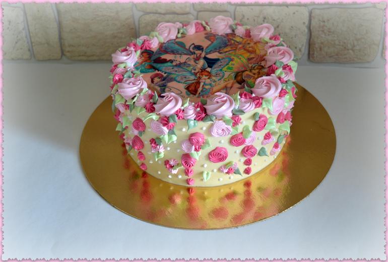 торт с мастикой и вафельной картинкой фото зависит