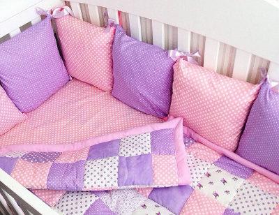 Бортики кроватку новорожденного своими руками фото 442