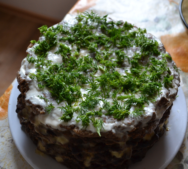 печеночный торт с творогом фото эти
