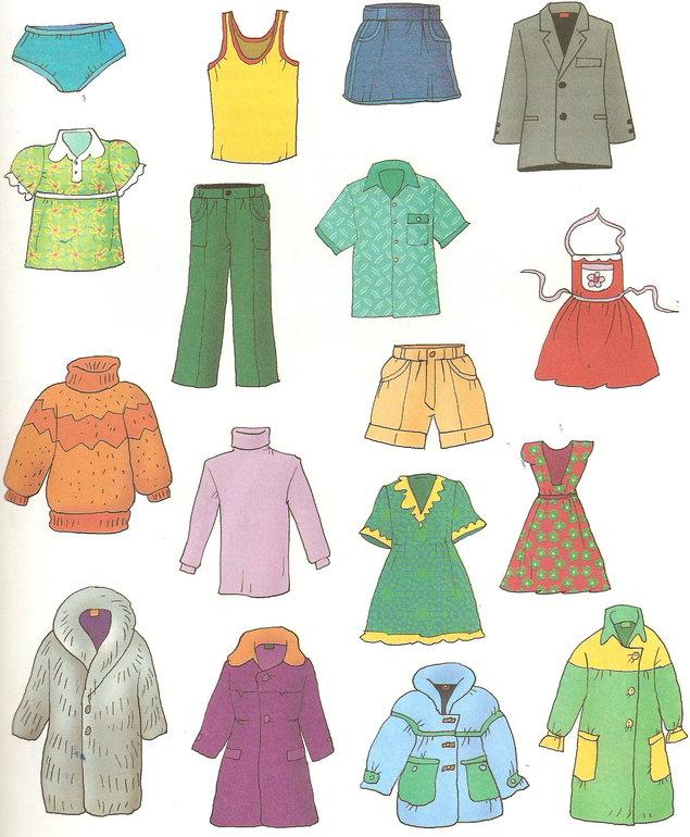 главный сюжетные картинки по темам одежда переводе