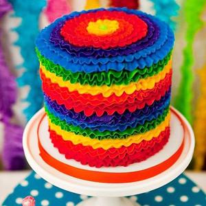 Как сделать радужный торт фото 79