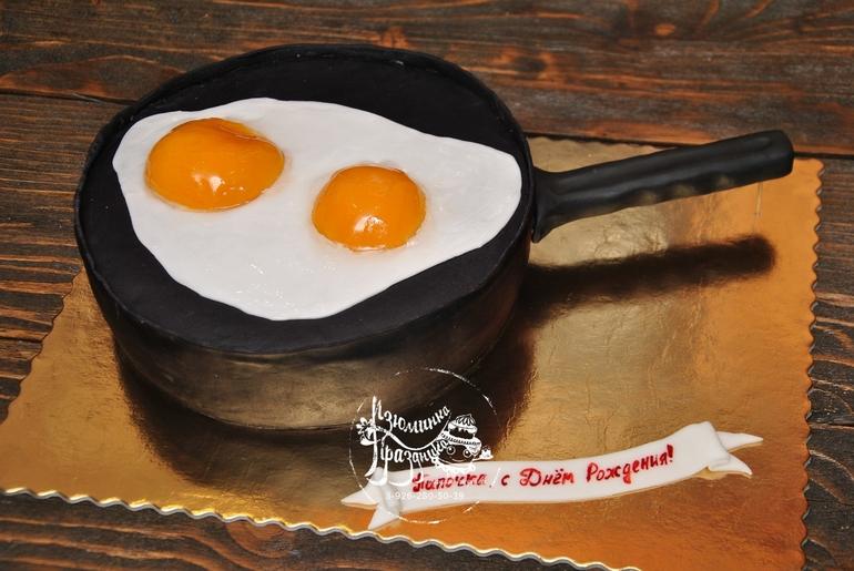 Торт яичница глазунья пошаговый рецепт с фото