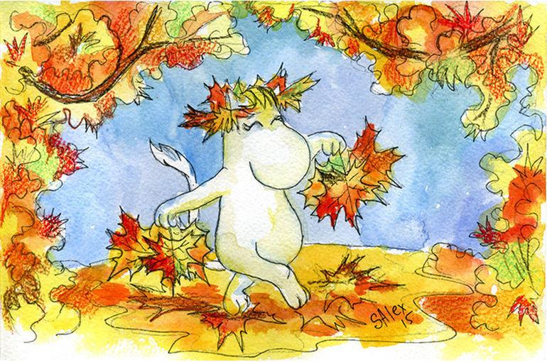 день осеннего равноденствия картинки анимация рядом играют волчок