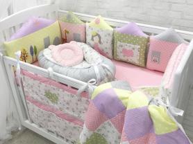 Бортики в кроватку Совинный домик. Постельное!