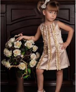 """Коктейльное платье """"Мини мисс"""" (золотое)"""