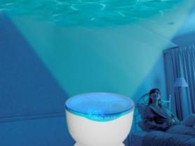 Ночник проектор морские волны,с колонками,новый