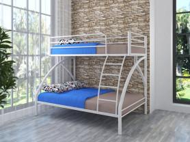 Двухъярусная металлическая кровать Клео