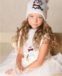 Милашка комплект          (шапка, шарф, варежки двуслойные)