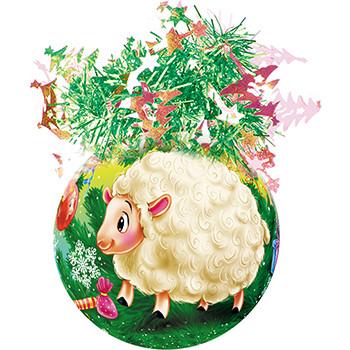 """Шар """"Рождественский"""" (Веселые Барашки), диаметр 85 мм, арт."""