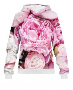 Худи женское Розовые пионы