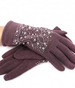 Перчатки трикотажные стразовые