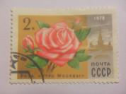 Марка 2 Копейки 1978 год СССР Роза Утро Москвы