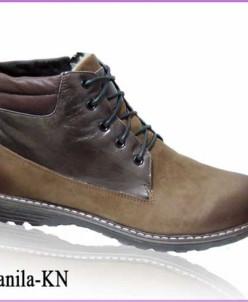 Теплые мужские зимние ботинки из натурального нубука и кожи