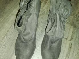 Ботинки, ботильоны серые р. 38