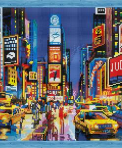 Нью Йорк в огнях рекламы - алмазная мозаика