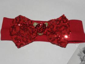 Красная повязка с бантом из пайеток (США)