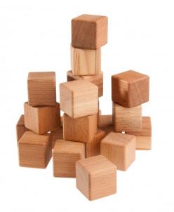 Кубики буковые, 20 шт., ТМ Леснушки