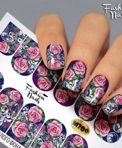 Fashion Nails, Слайдер-дизайн M209