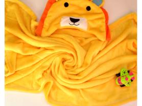 Детский Плед-полотенце с забавным капюшоном