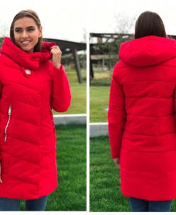 Женская куртка 568 нежно-розоваяЖенская куртка 6063 красная