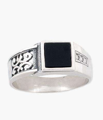 Кольцо мужское из серебра Князь Юмила