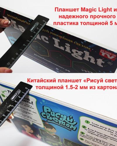 Волшебный планшет РИСУЕМ СВЕТОМ (21 Х 30см) толщиной 2мм