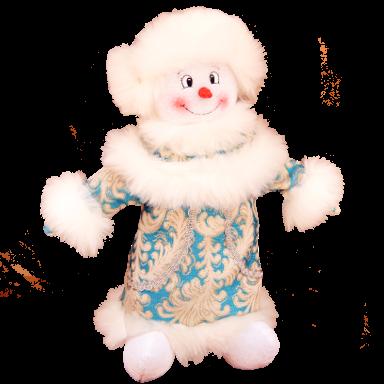 Снеговик 600 грам текстиль
