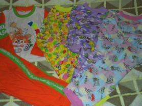 Пижамы б/у пакетом 4штуки р.92-98 цена за всё 99р