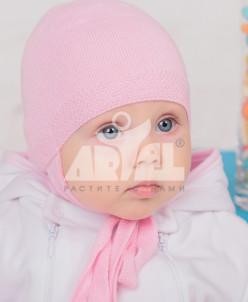Нежнейшая шапка из хлопка для новорожденных и малышей.