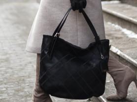 Новая стильная сумка из натуральной кожи черная