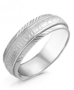 Кольцо из серебра с алмазной огранкой родированное - Спаси и