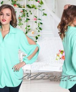 Рубашка №201-бирюза