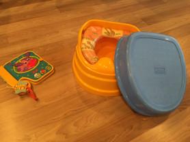 """Комплект Baby Care """"3 в 1"""": горшок, мягкое сиденье на унитаз, подставка"""